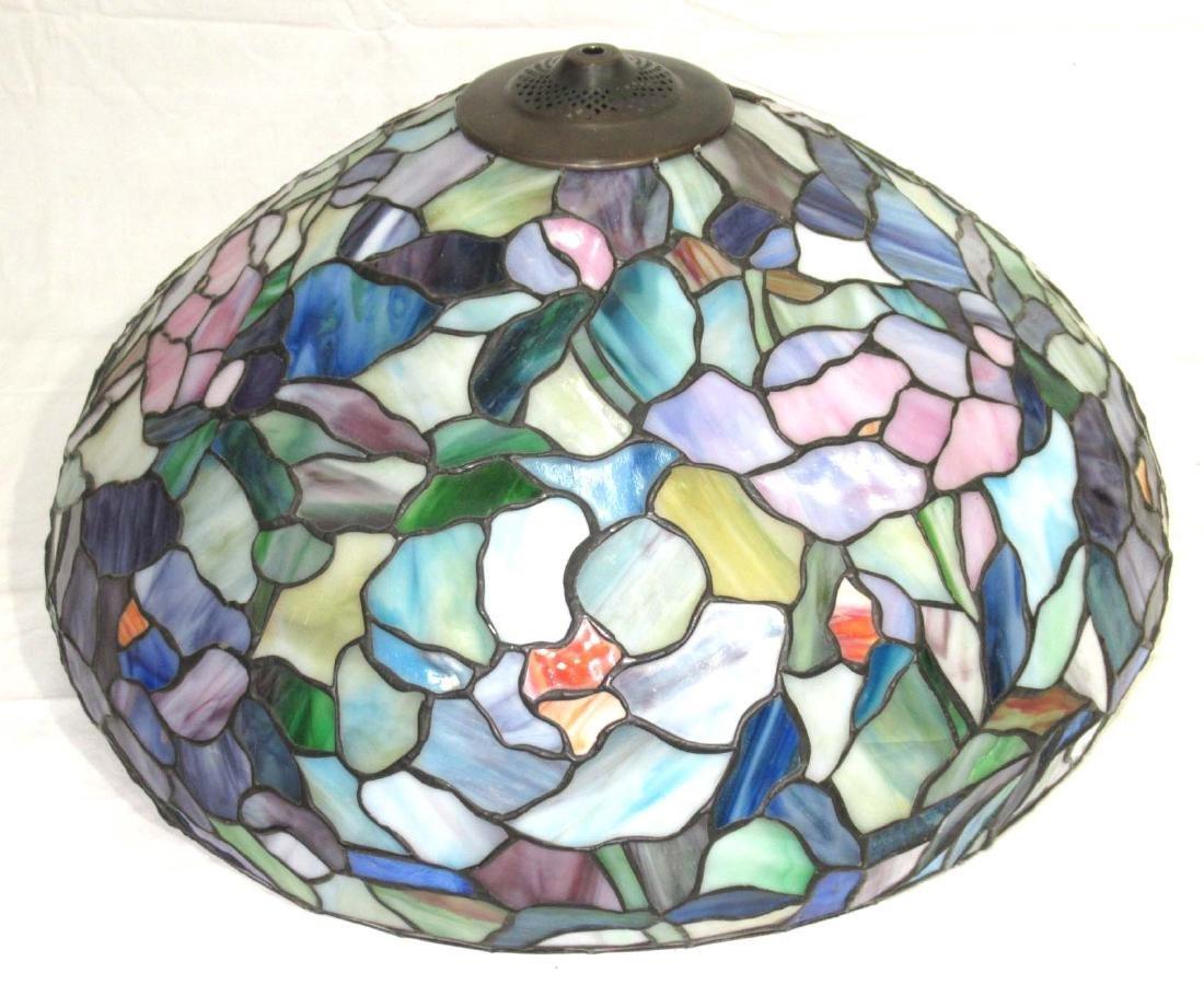 Lg. Leaded Glass Lamp - 4