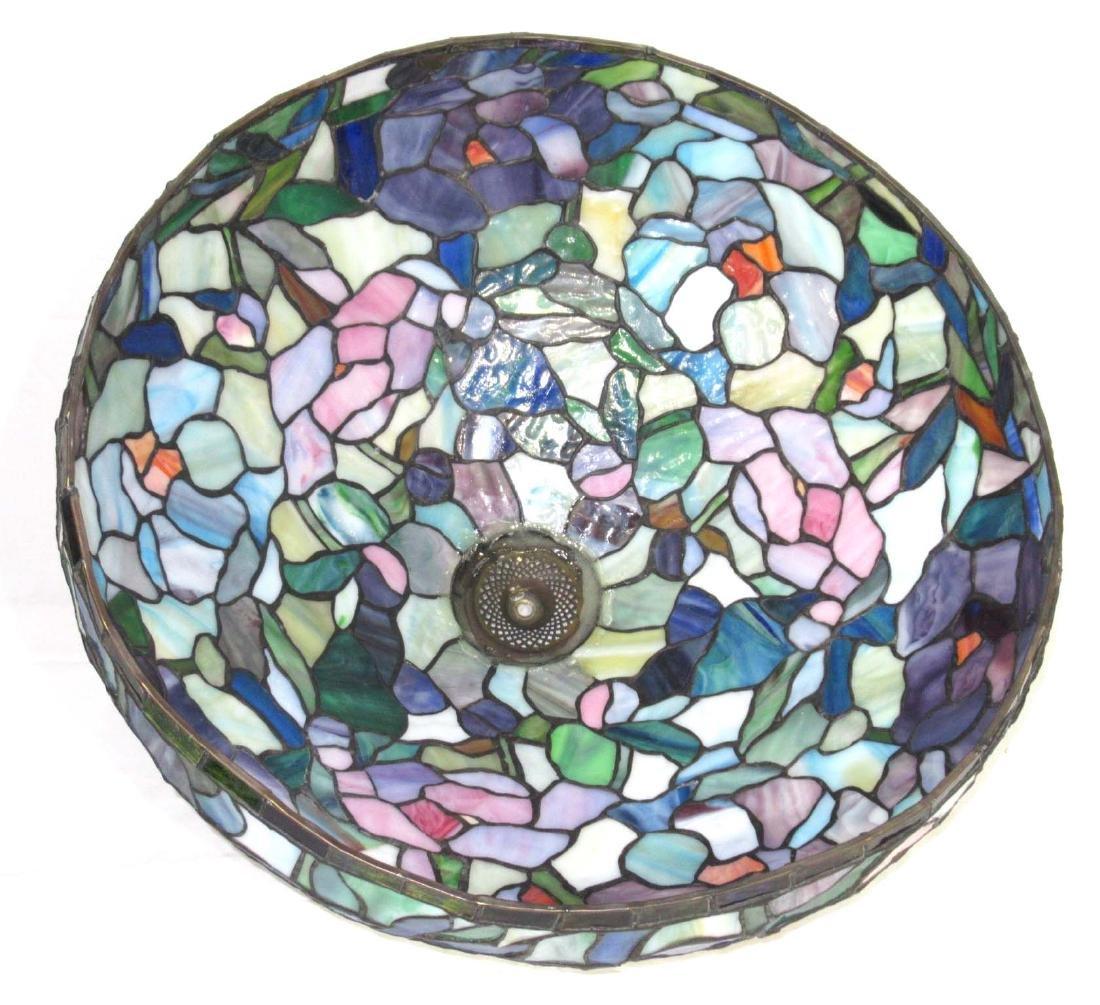 Lg. Leaded Glass Lamp - 5