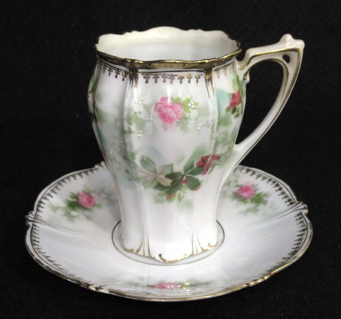 RS Prussia Red Mk., Cup & Saucer