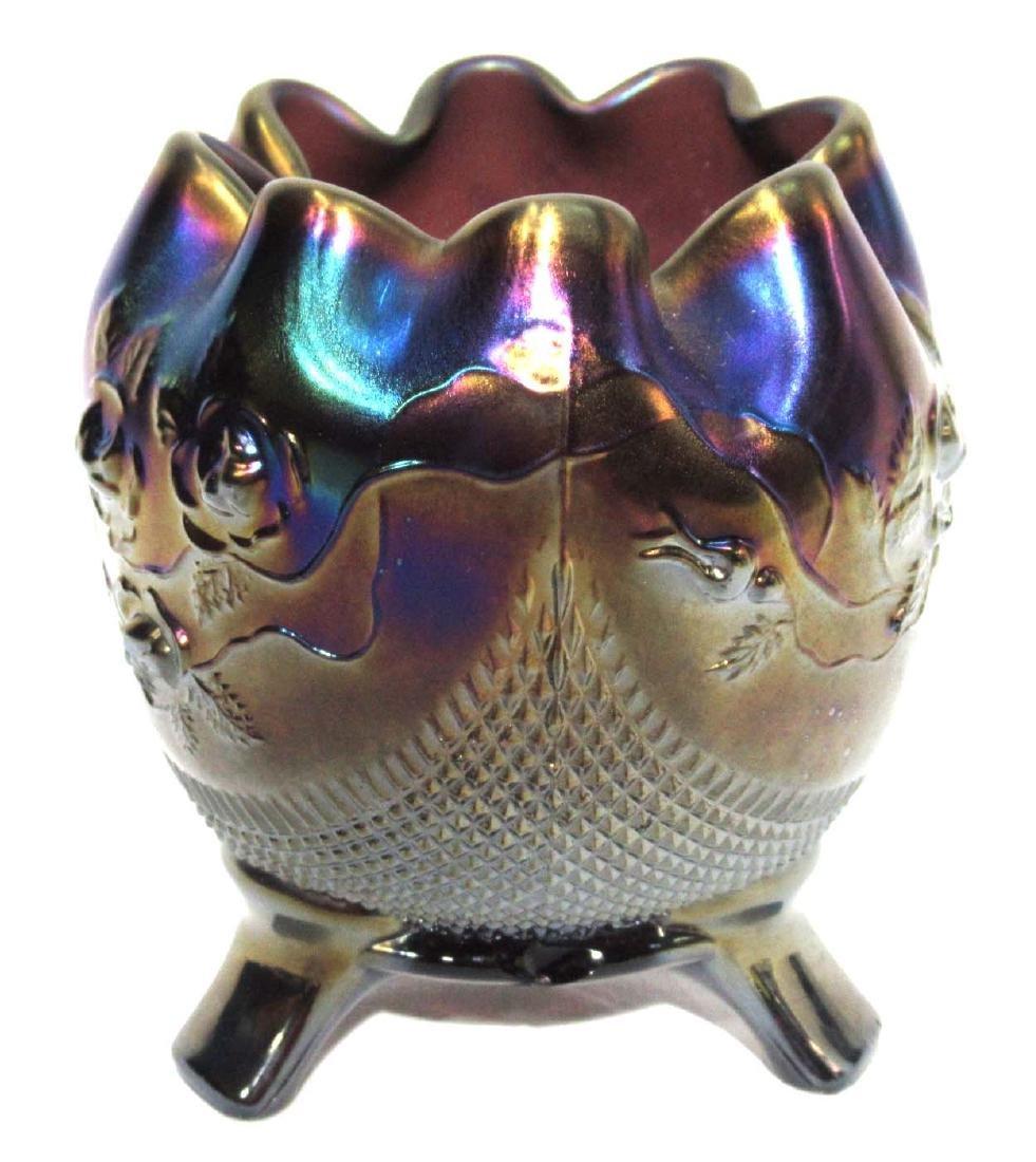 Northwood Carnival Glass Rose Bowl - 2