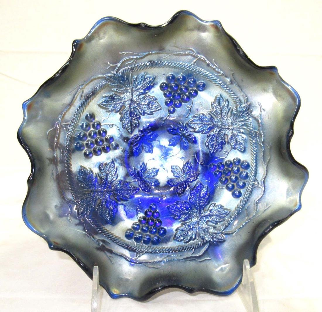 "Carnival Glass Bowl ""Grape & Cable"""