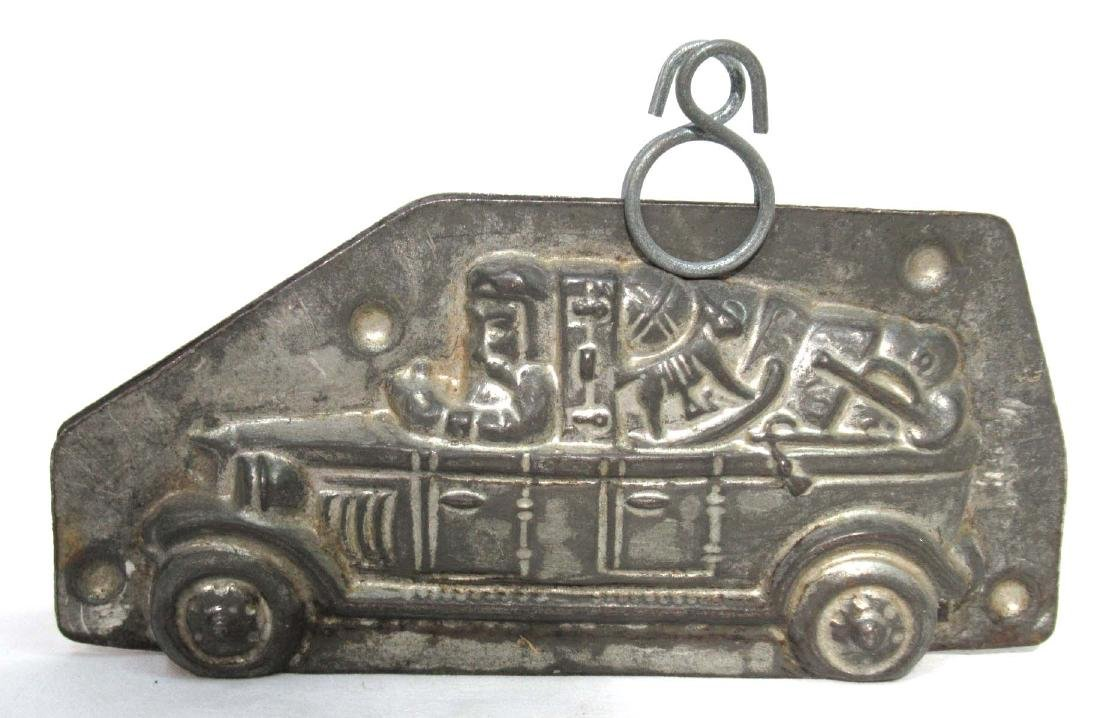 Tin Santa In a Truck Chocolate Mold