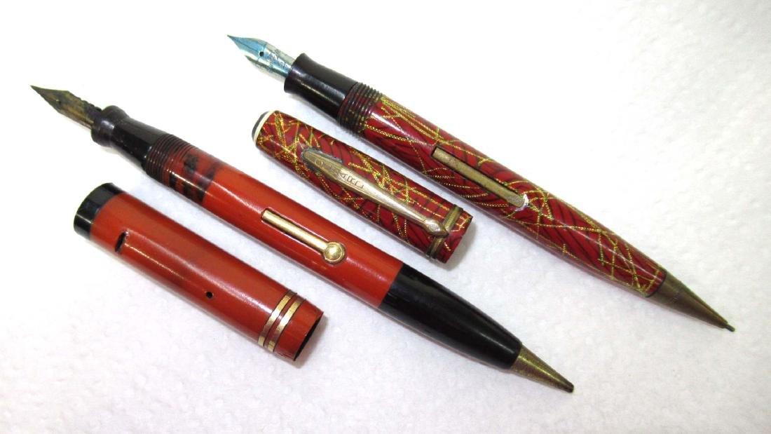 2 Celluloid Fountain Pen/Pencils