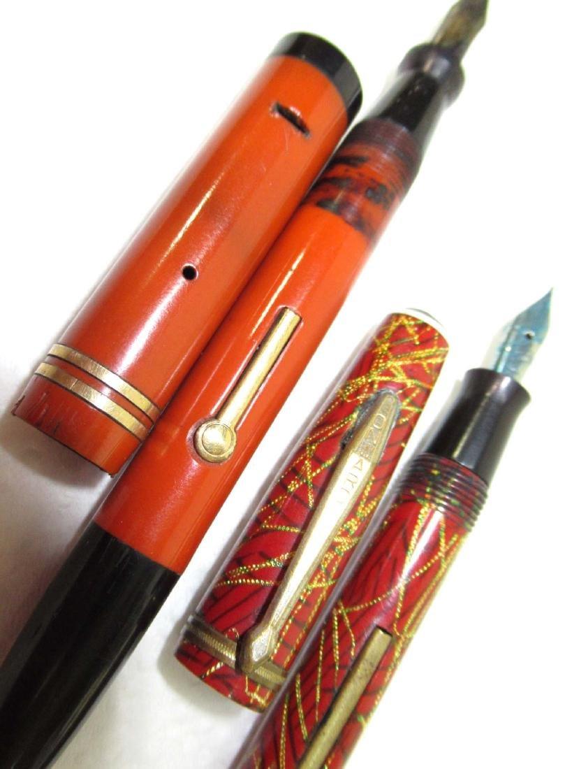 2 Celluloid Fountain Pen/Pencils - 4