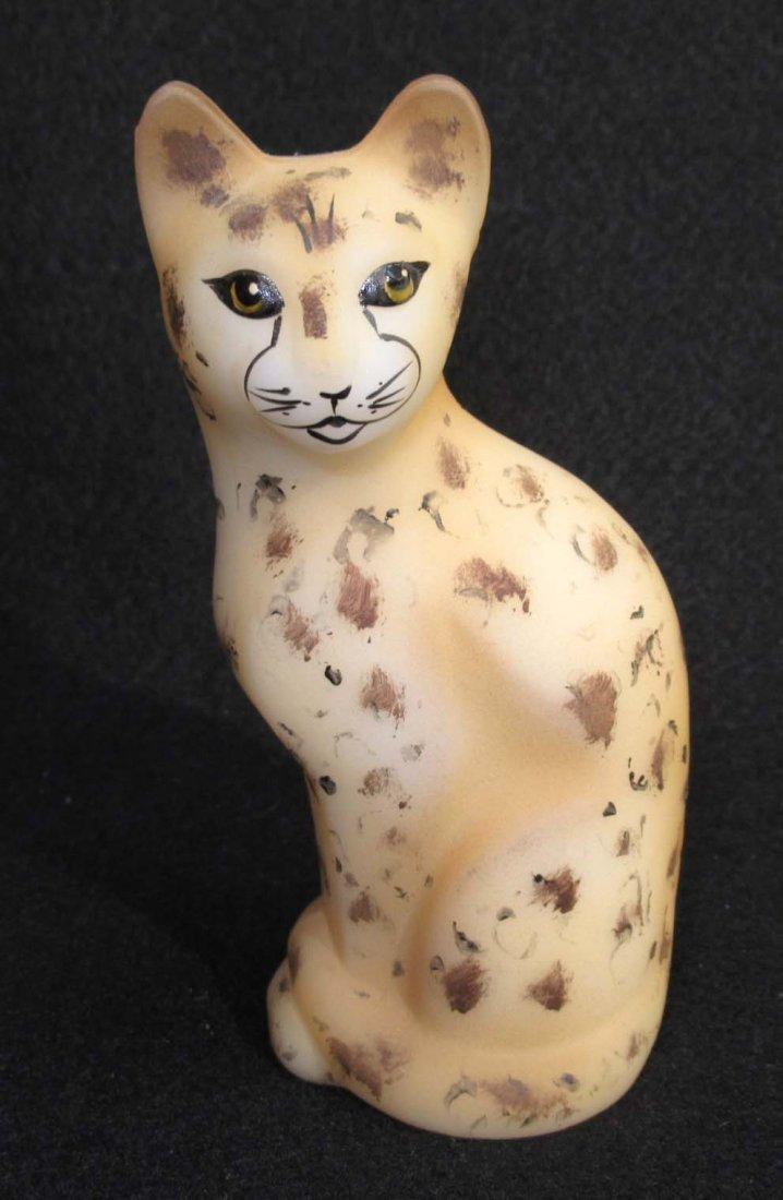 Fenton H.P. Cat Paperweight Artist Sgnd