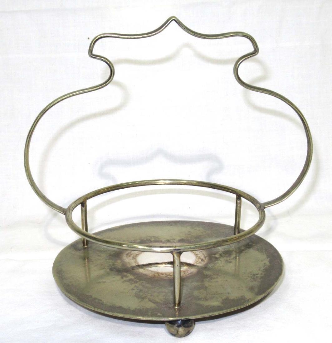 Victorian Vaseline Glass Marmalade Basket - 2
