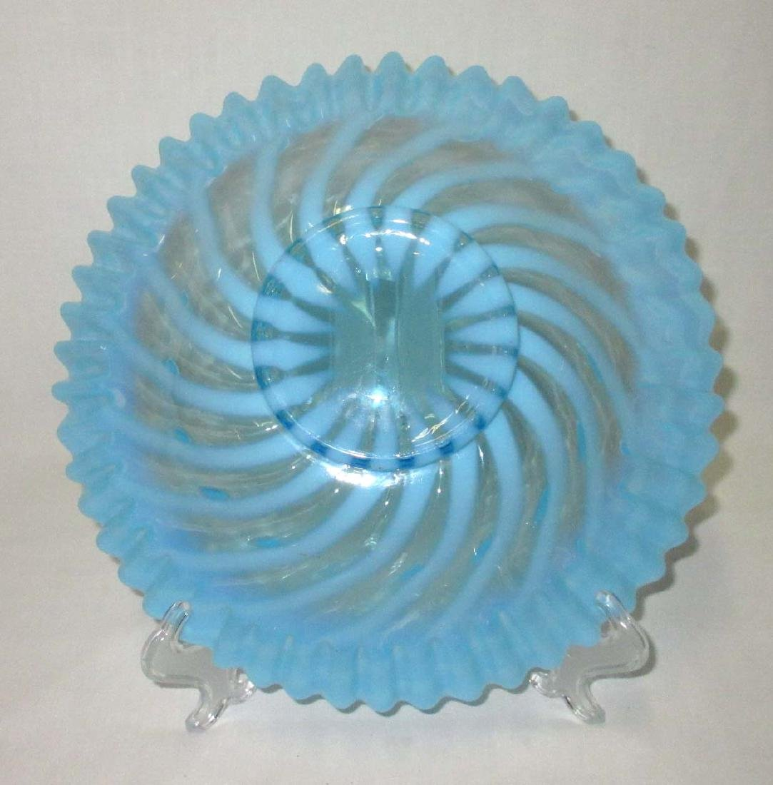 Blue Opalescent Brides Bowl - 3