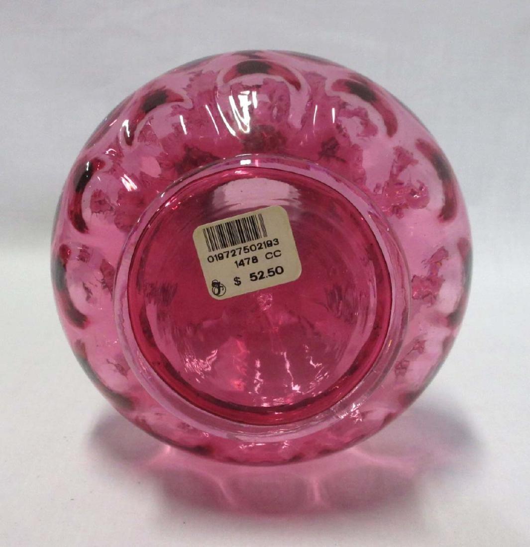 Cranberry Glass Vase - 4