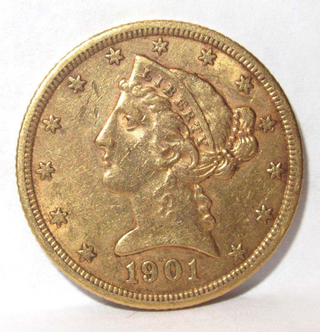 1901 $5 Gold Coin