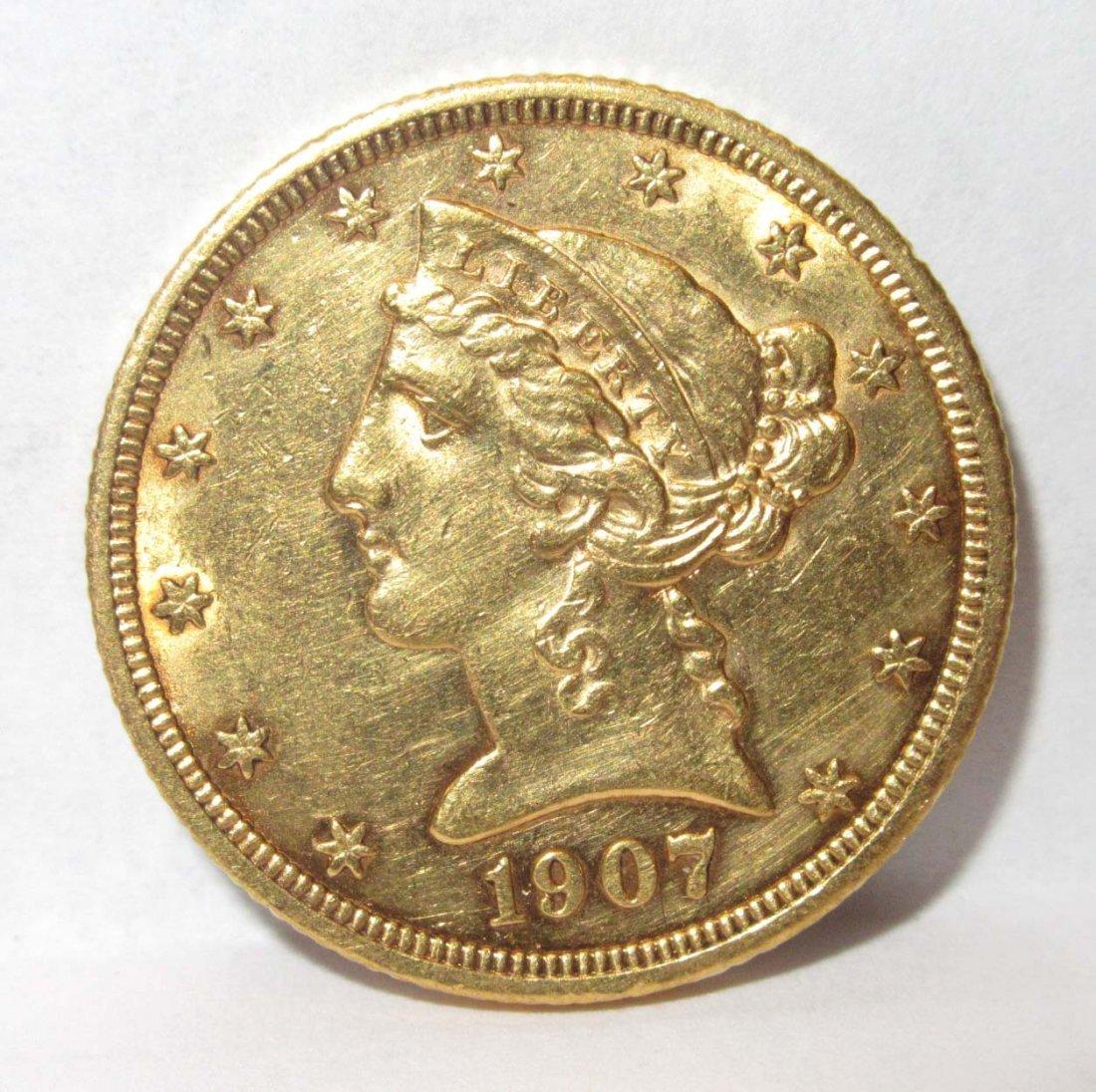 1907 $5 Gold Coin