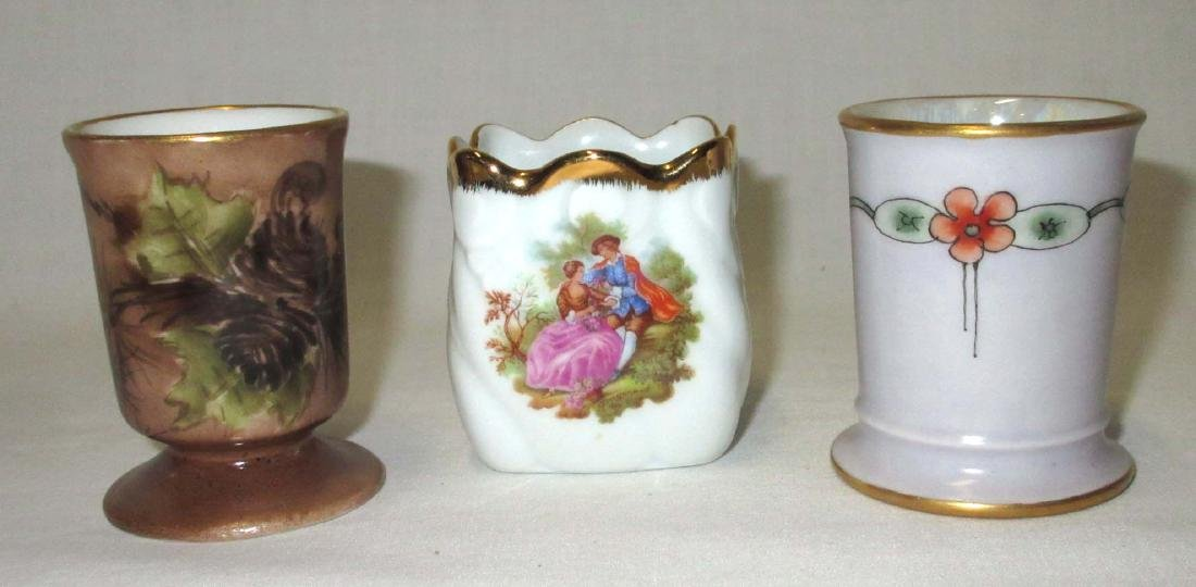 3 Limoges France Toothpick Holders