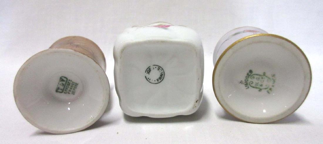 3 Limoges France Toothpick Holders - 3