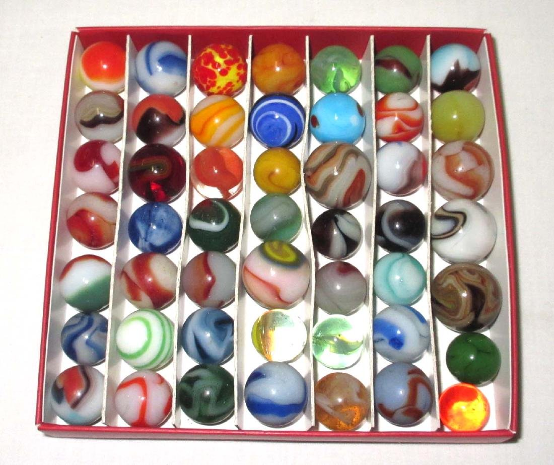 Lot of 49 Marbles