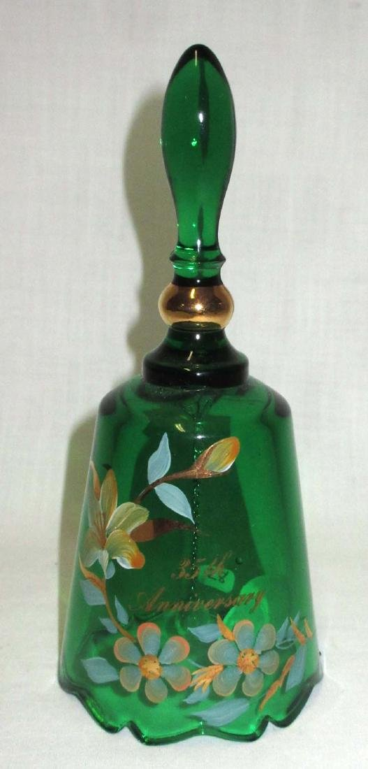 Fenton H.P. Glass Bell Artist Sgnd