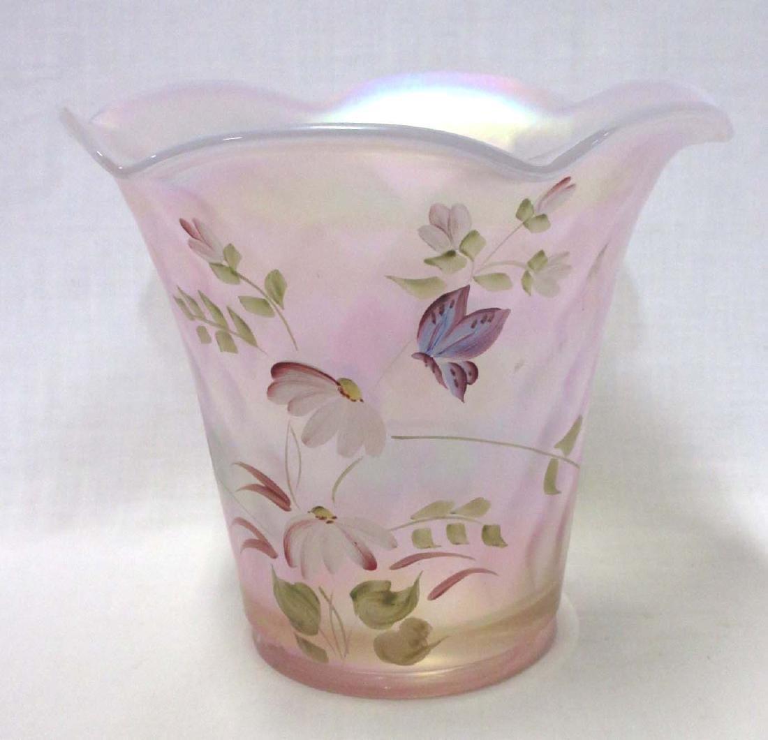 Fenton H.P. Iridescent Vase Artist Sgnd