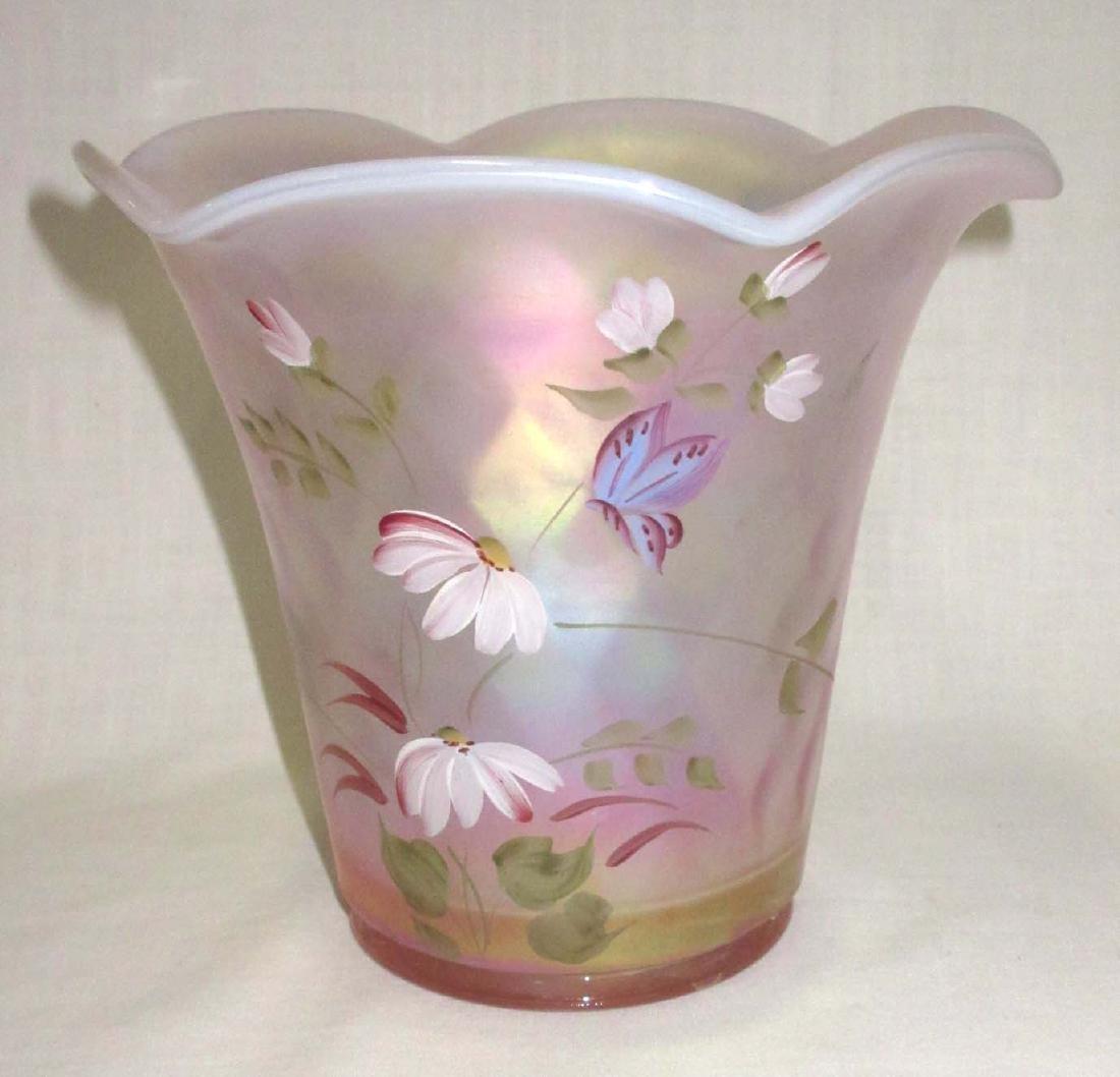 Fenton H.P. Iridescent Vase Artist Sgnd - 2