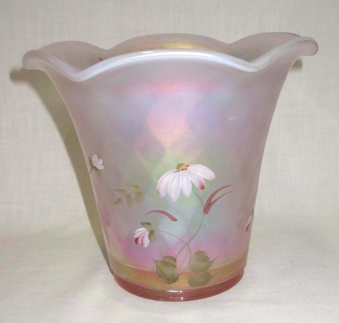 Fenton H.P. Iridescent Vase Artist Sgnd - 3