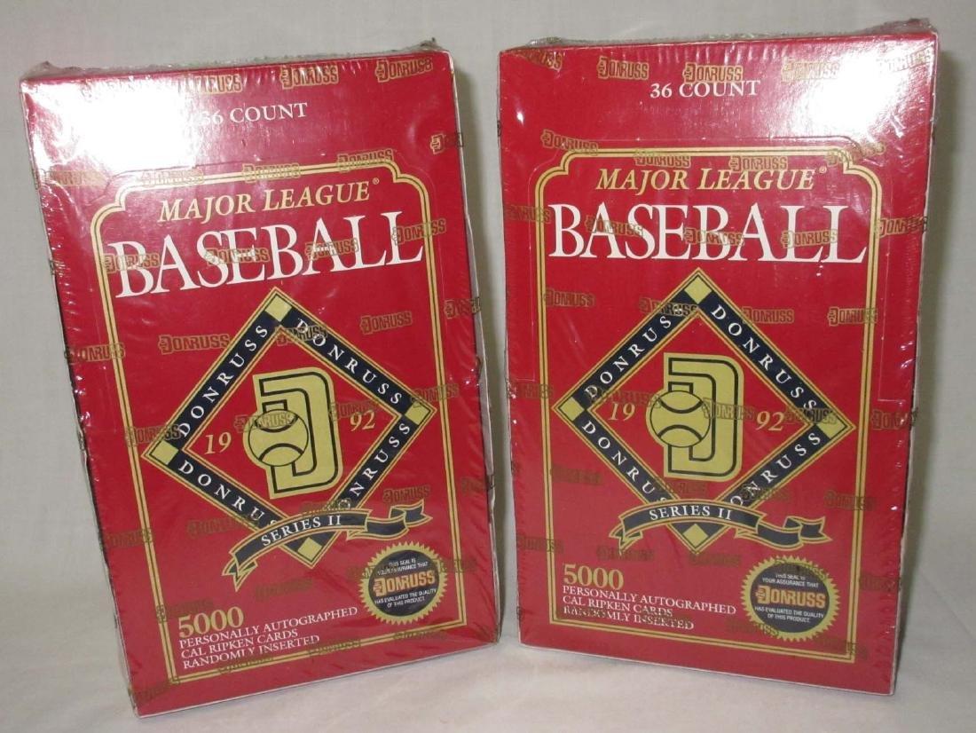 2 Factory Sealed Boxes 1992 Donruss Baseball Cards