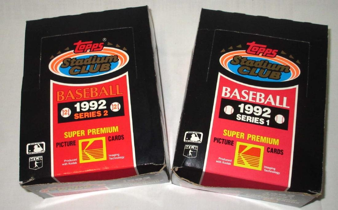 2 Factory Boxes 1992 Topps Baseball Cards