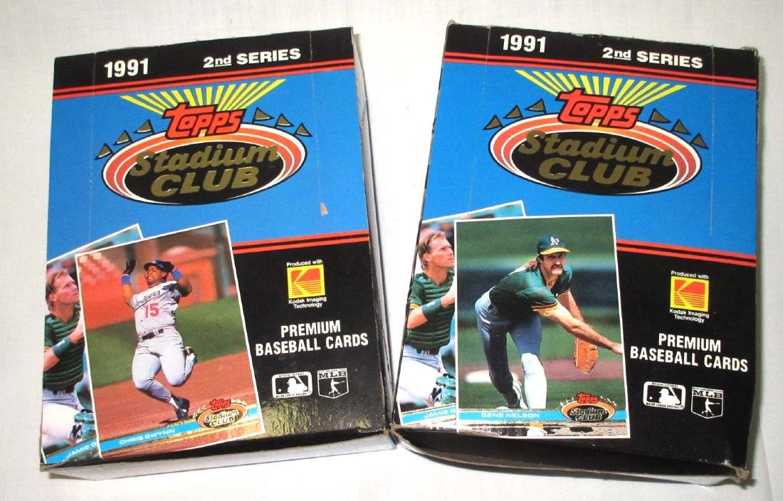 2 Factory Boxes 1991 Topps Baseball Cards