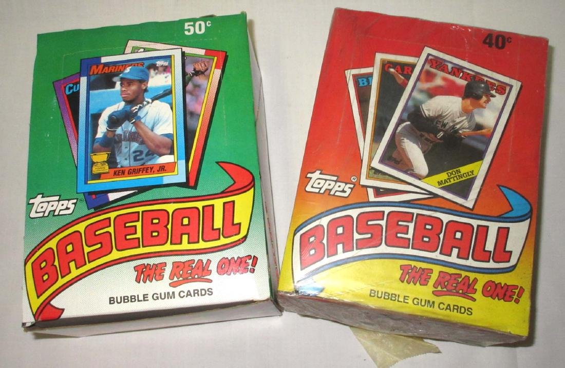 2 Factory Boxes 1988 & 1990 Topps Baseball Cards