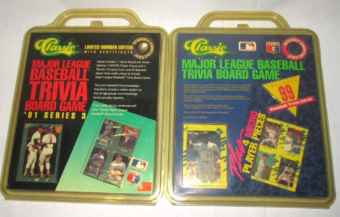 2 Classic Major League Baseball Trivia Board Games