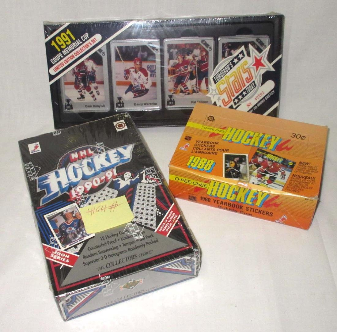 3 Boxes 1988, 90, & 91 Hockey Cards