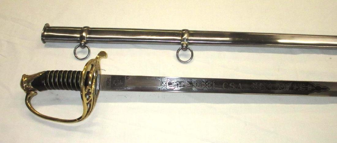 Civil War Confederate Reenactment Sword