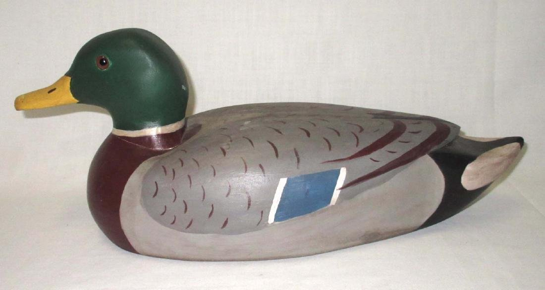 Carved Wooden Duck Decoy