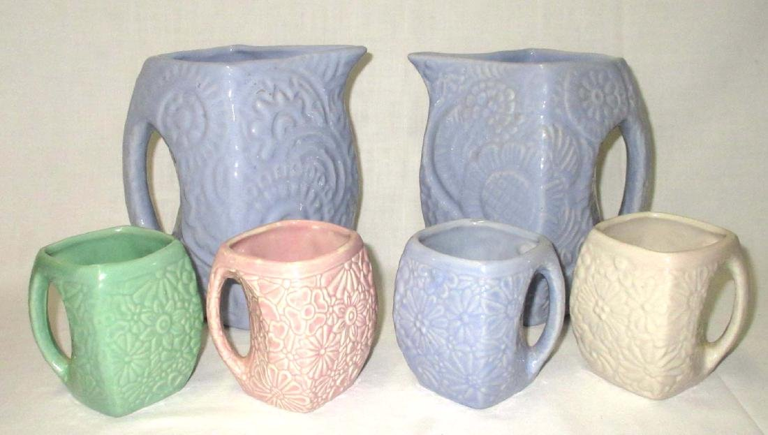 6pc Niloak Pitchers & Mugs