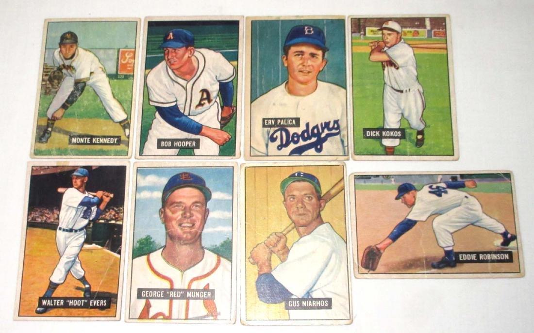 (8) 1951 Bowman Baseball Cards