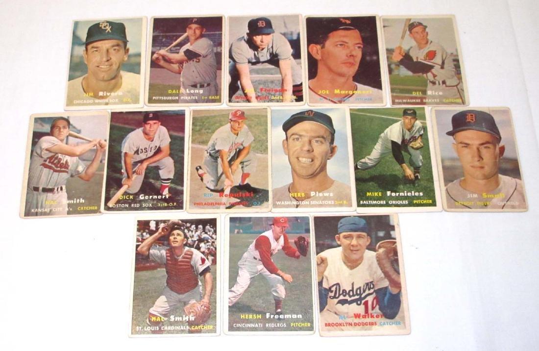 (14) 1957 Topps Baseball Cards