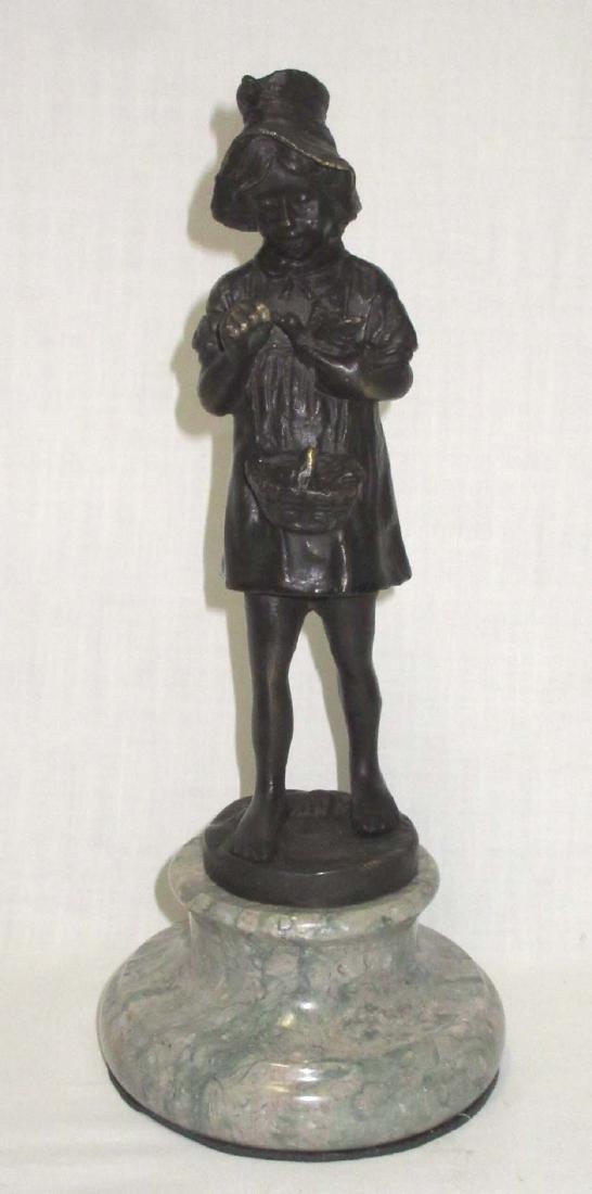 Bronze Statue of Girl w/ Birds