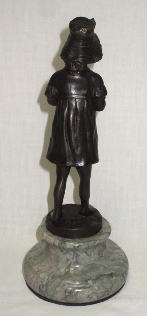 Bronze Statue of Girl w/ Birds - 3