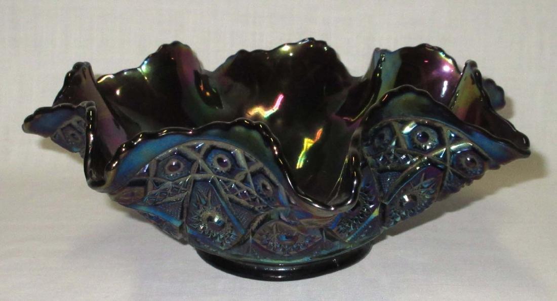 Dark Carnival Glass Bowl