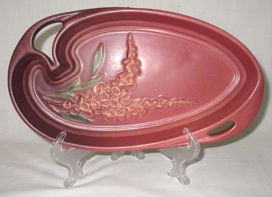 Roseville Pottery Tray Foxglove