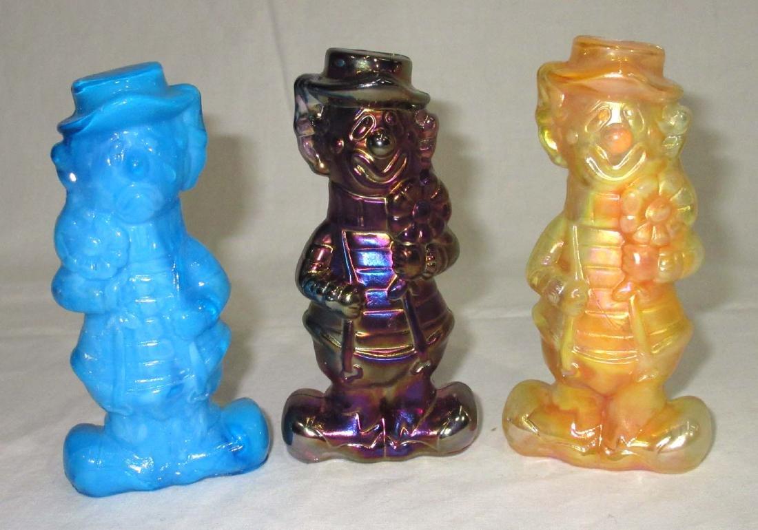 3 Boyd Glass Happy/Sad Clown Figurines