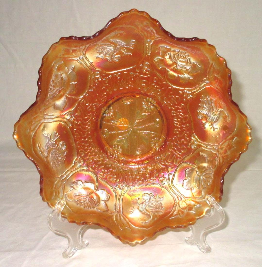 "Carnival Glass ""Lotus & Dragon"" Bowl"
