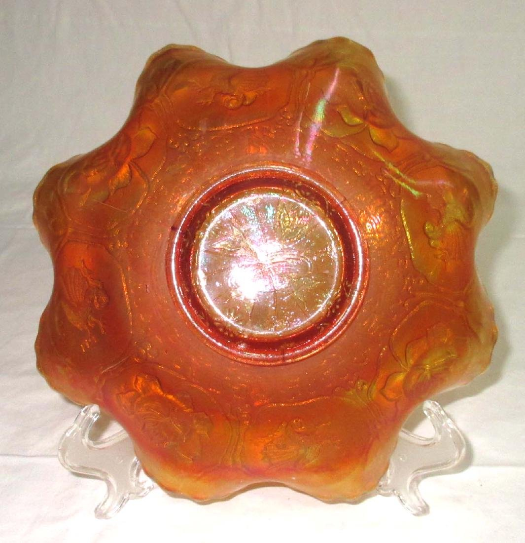 "Carnival Glass ""Lotus & Dragon"" Bowl - 3"