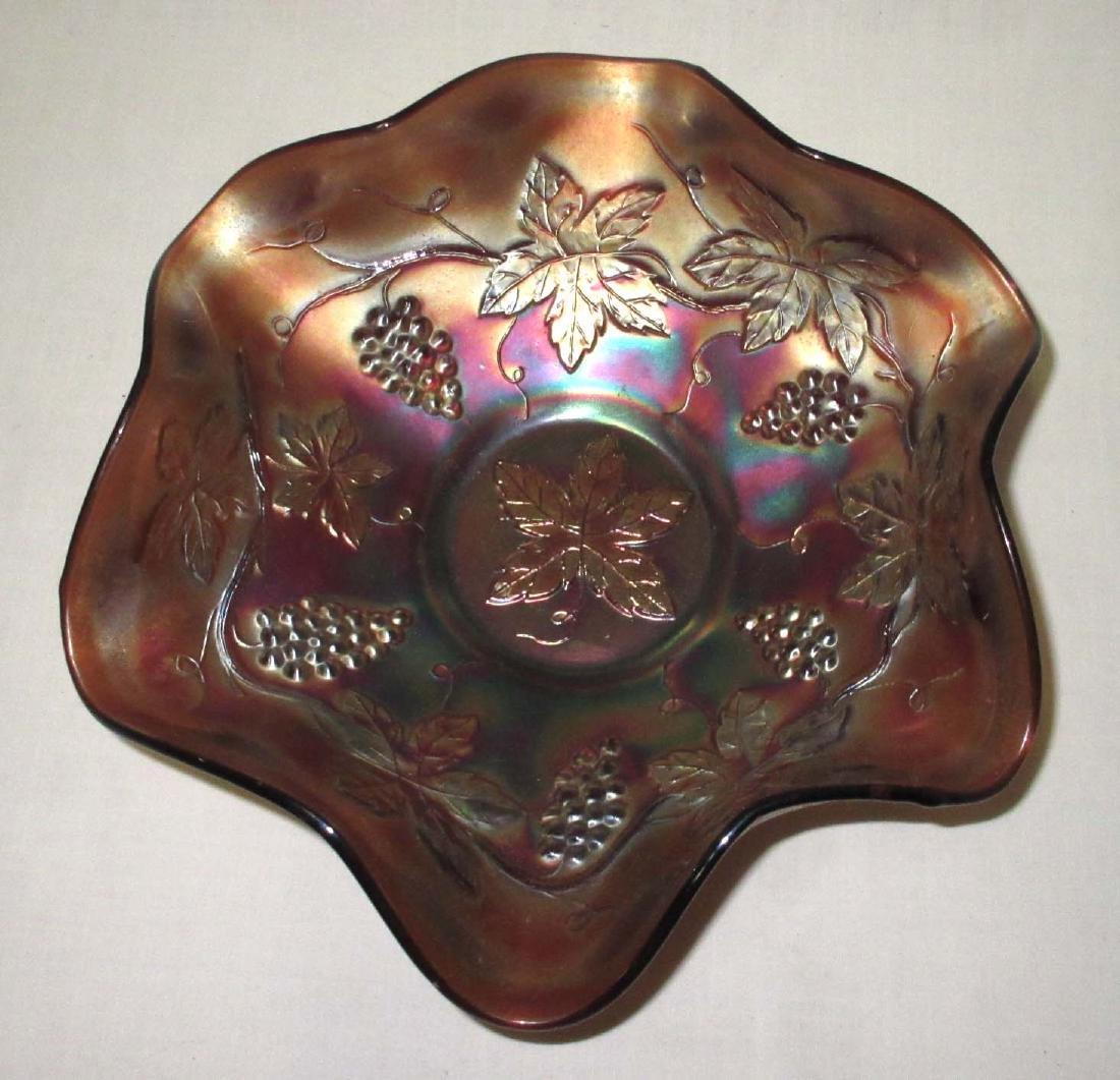 "Carnival Glass Bowl ""Grapes"""