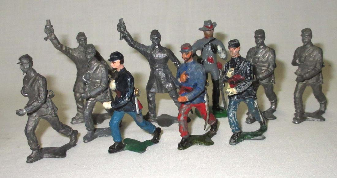 Lot of 10 Civil War Lead Soldiers