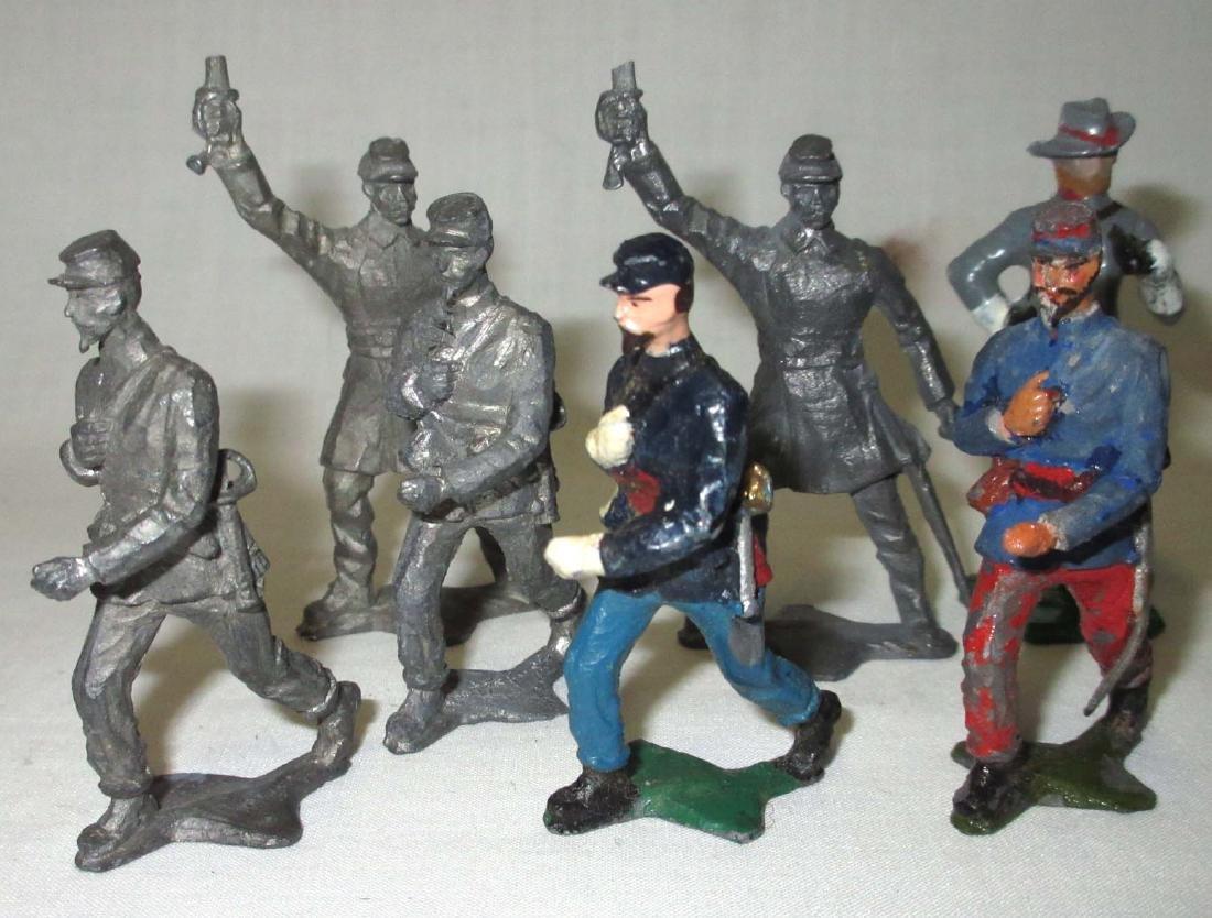 Lot of 10 Civil War Lead Soldiers - 2