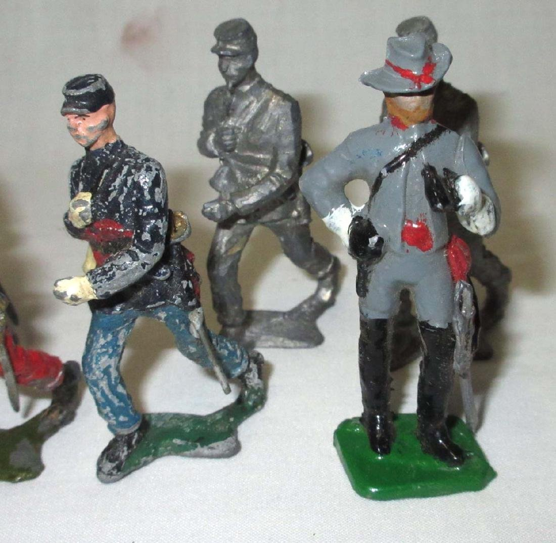 Lot of 10 Civil War Lead Soldiers - 3