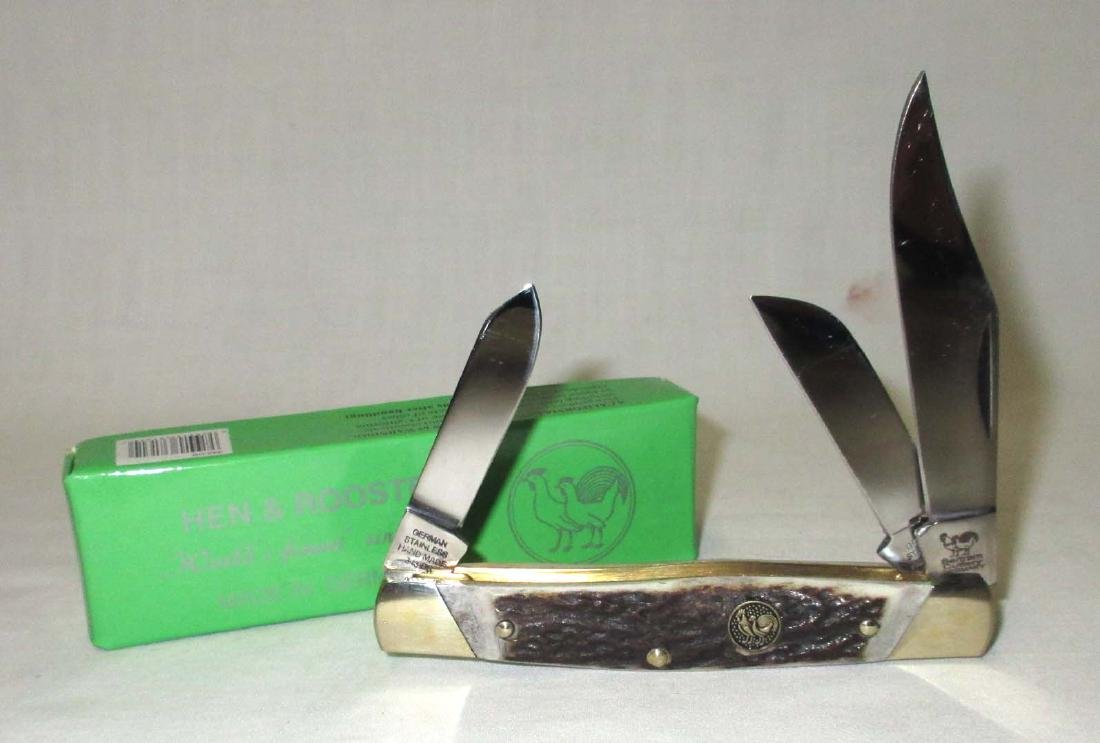 "4"" Hen & Rooster Pocket Knife NIB"