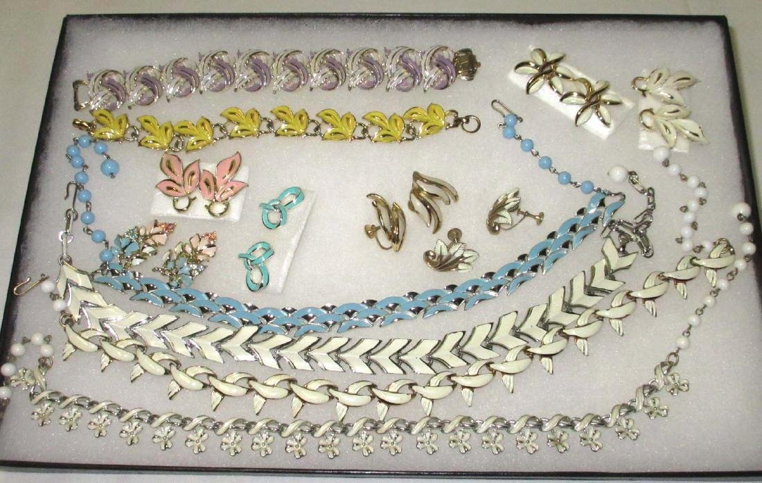 """Coro"" 13pc. Enameled Jewelry Collection"