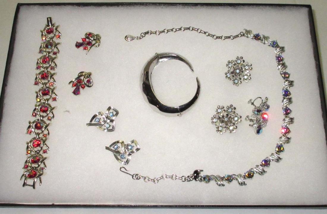"1960's ""Coro"" Rhinestone Jewelry Collection"