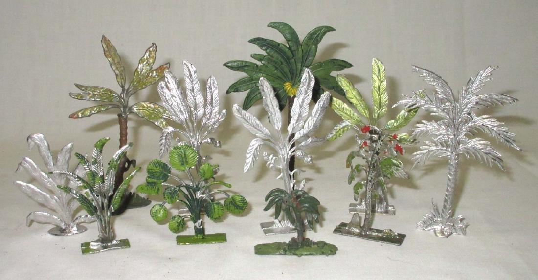 Lot of 11 Lead Trees & Foliage