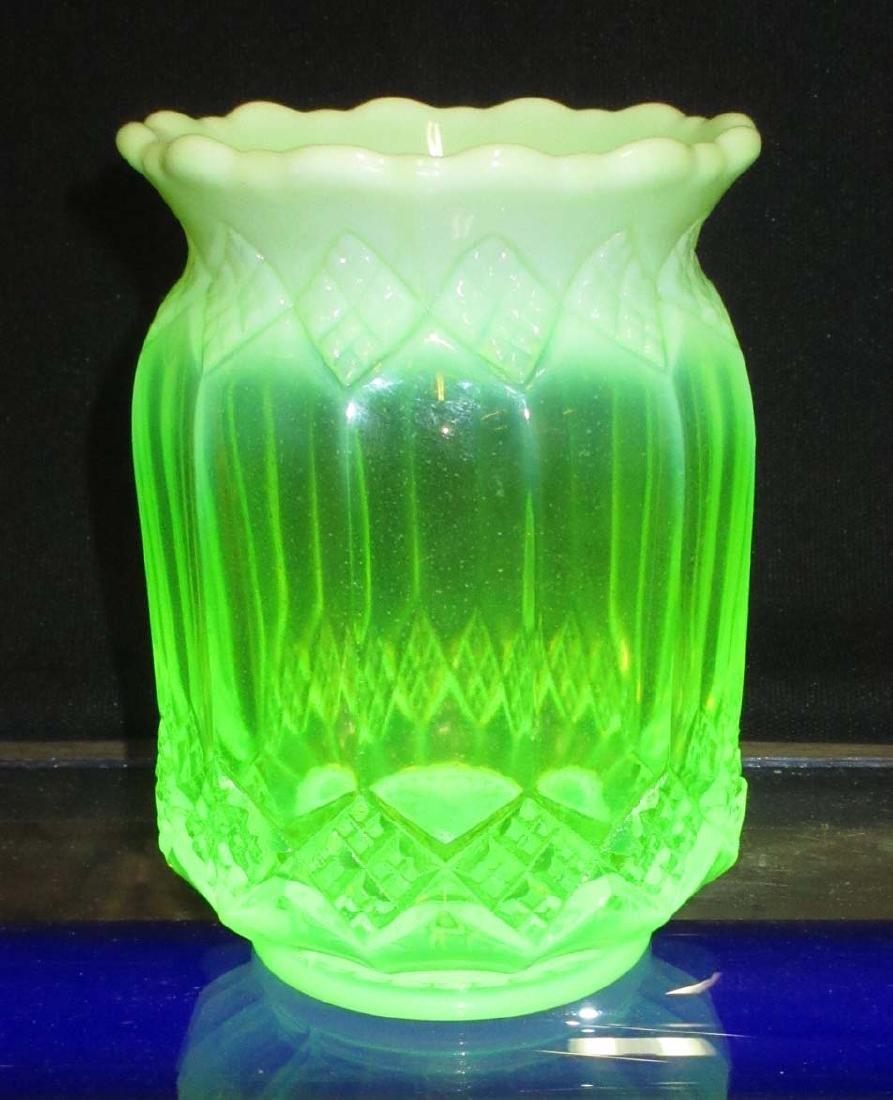 Vaseline Opalescent Spooner