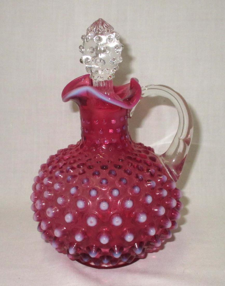 Fenton Cranberry Opalescent Cruet