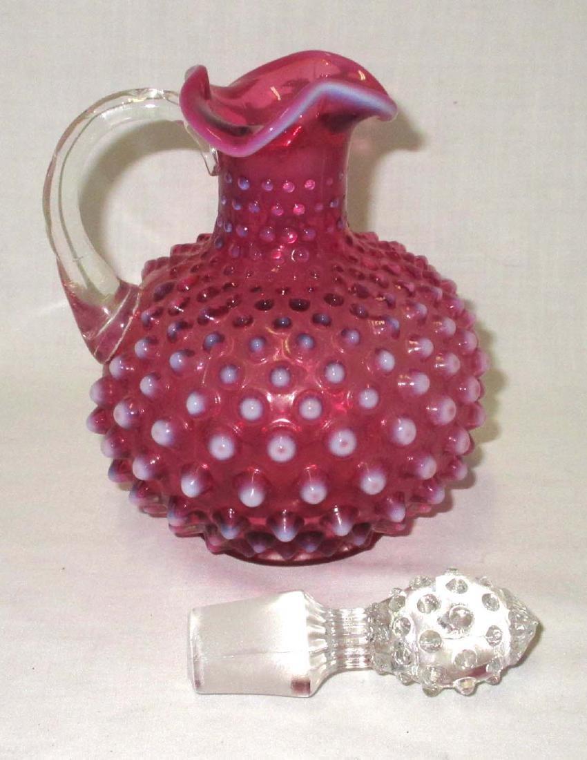 Fenton Cranberry Opalescent Cruet - 2